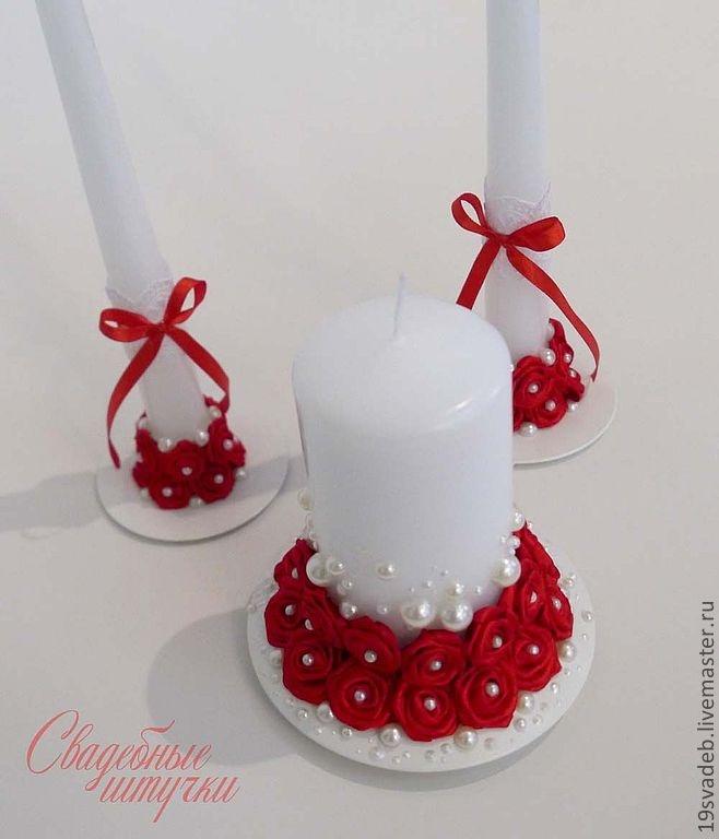 Как украсить свечи на свадьбу своими руками