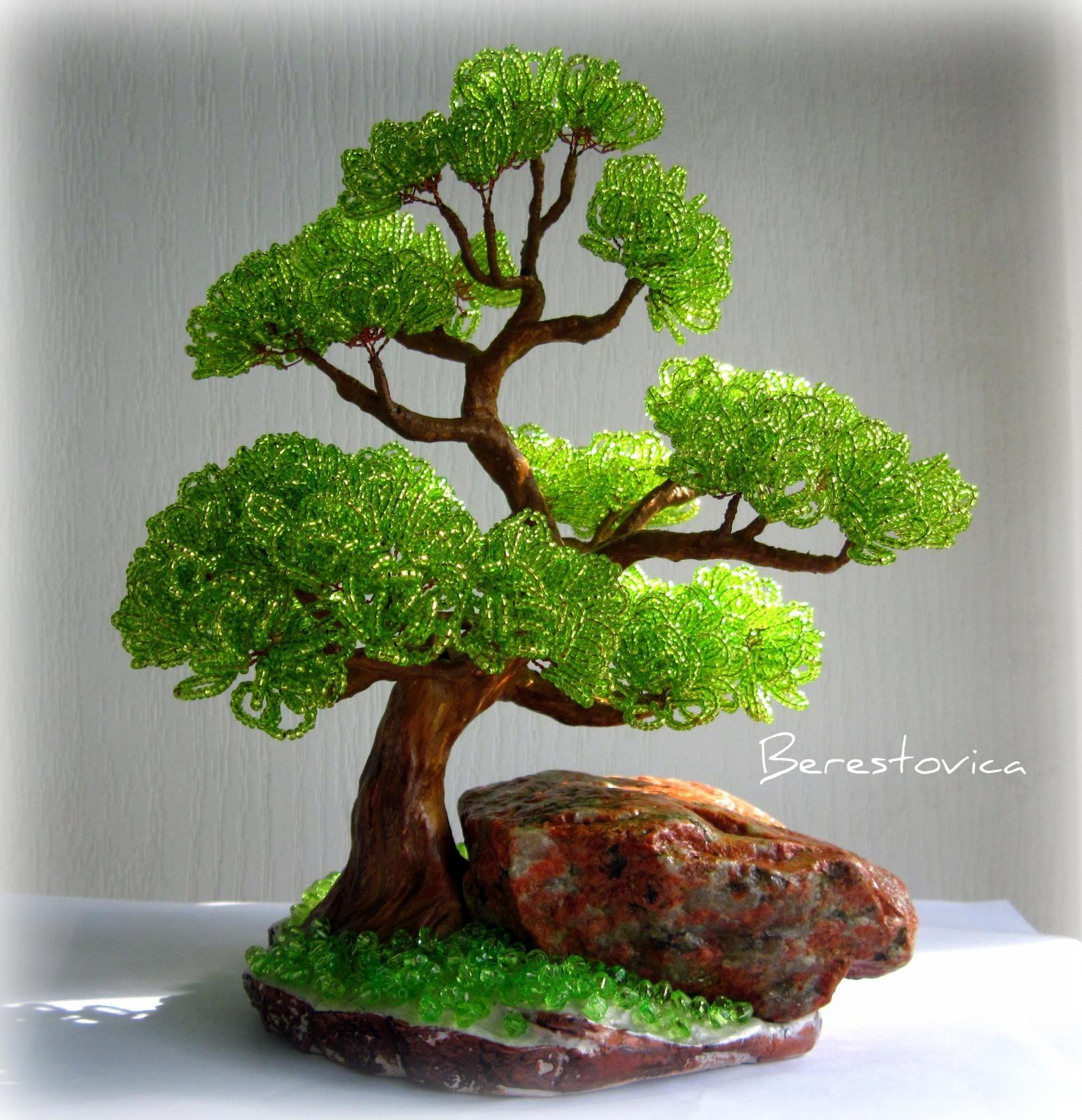 Деревья из бисера мастер класс банзай