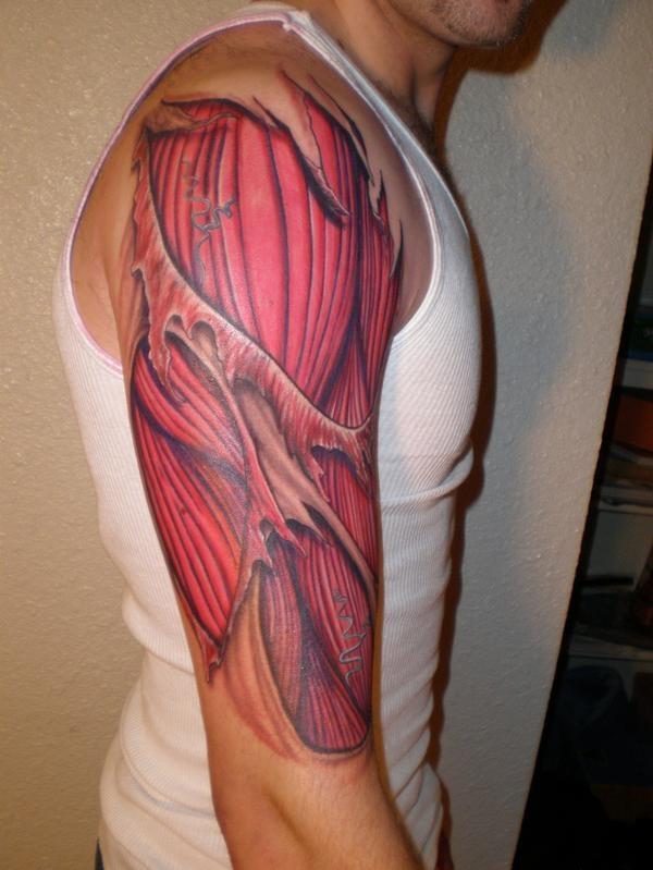 Фото тату мышц