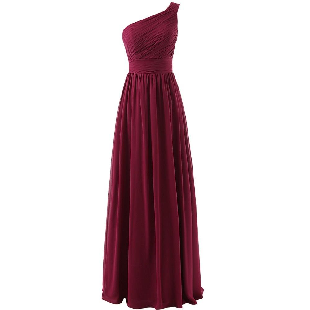 Длинные платья цвета марсала