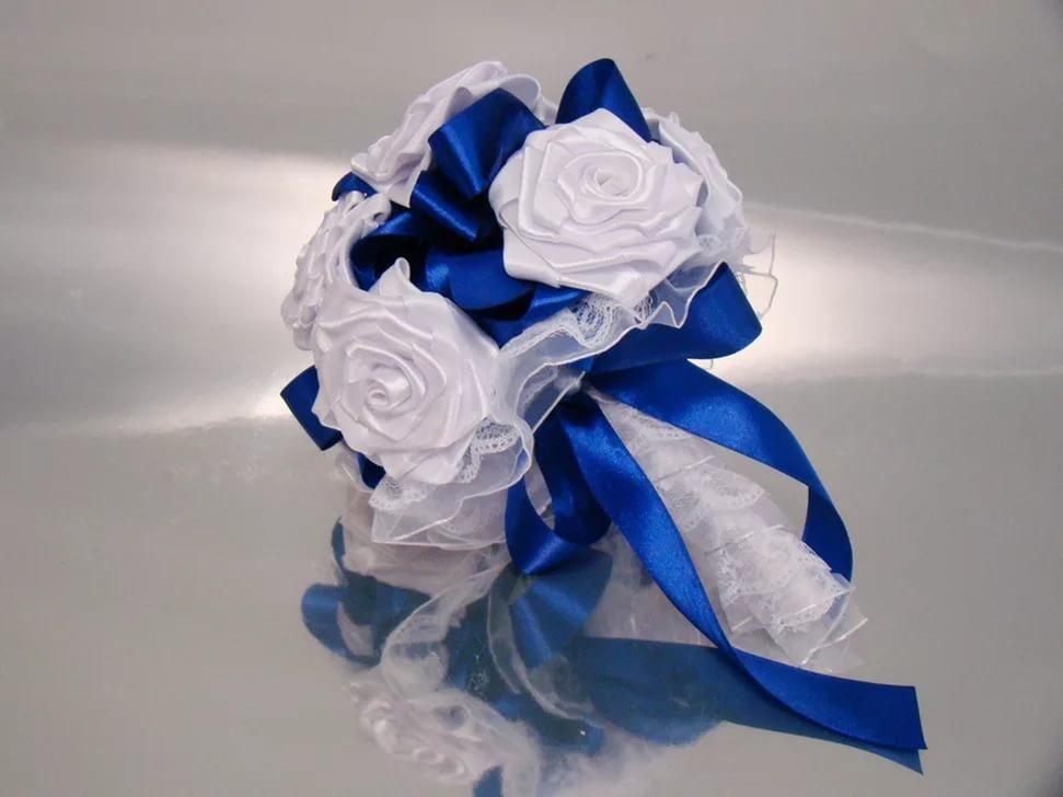 Букет дублер для невесты из атласных лент своими руками