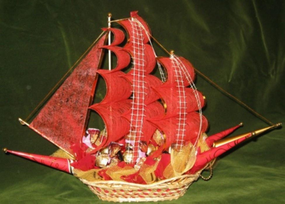 Корабль красивый поделка