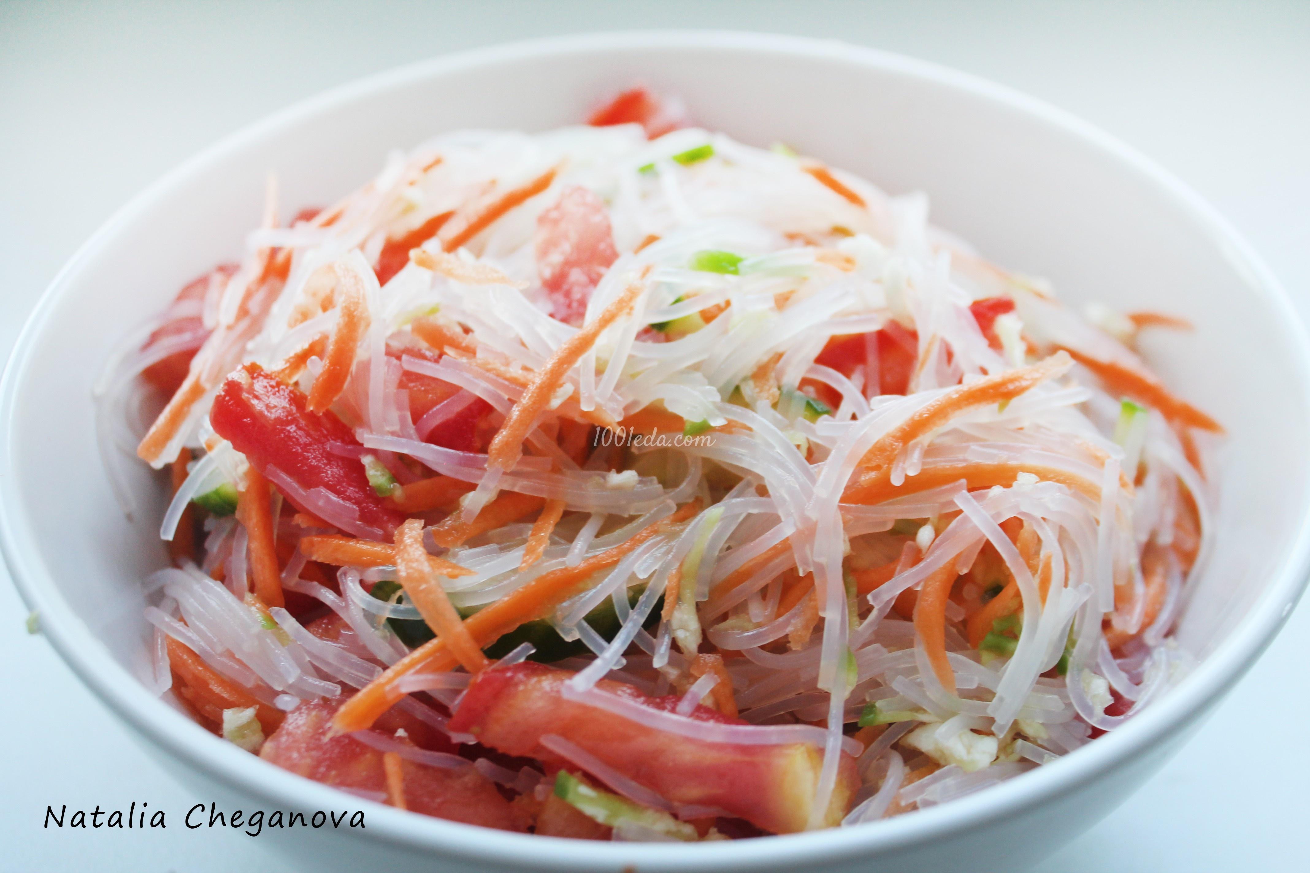 Салат с фунчозой и овощами рецепт пошаговый