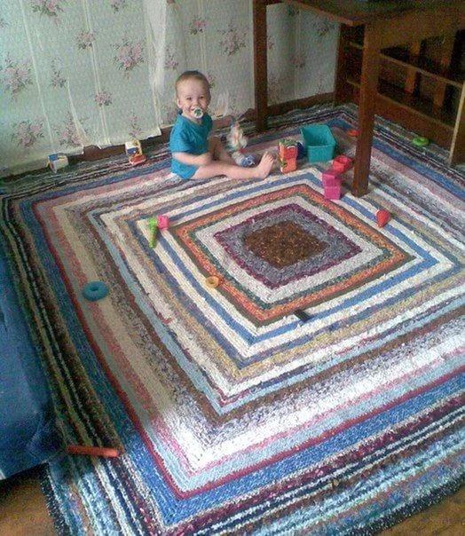 Сделай сам своими руками бабушкин коврик