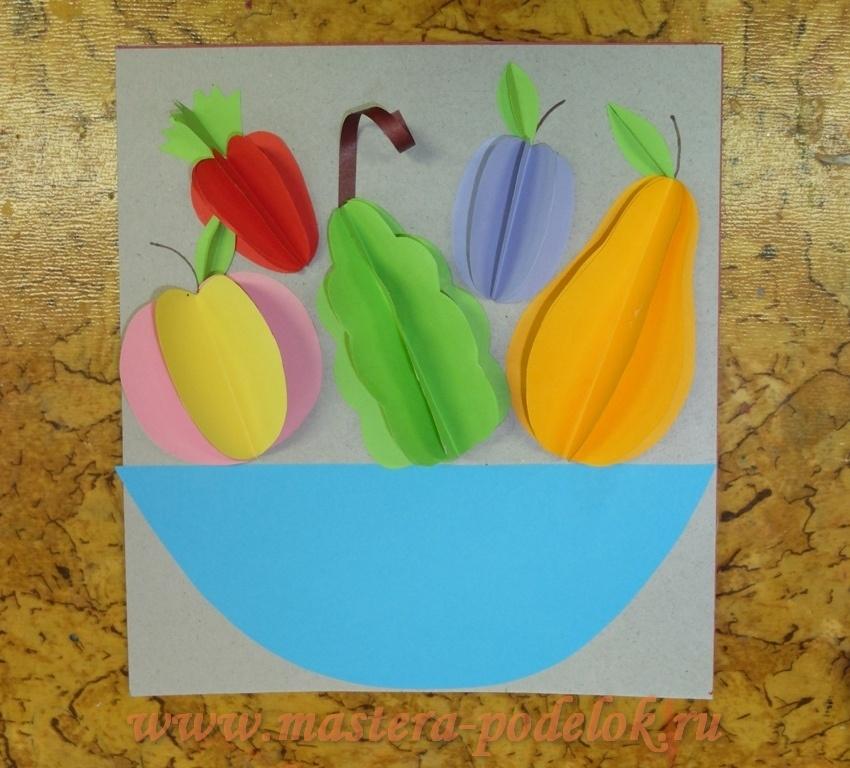 Аппликация объемная из бумаги овощи и фрукты - карточка от пользователя bucziak в Яндекс.Коллекциях