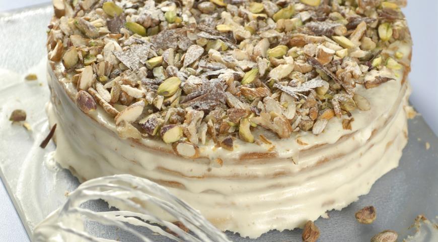 Рецепт медового торта со сметаной фото
