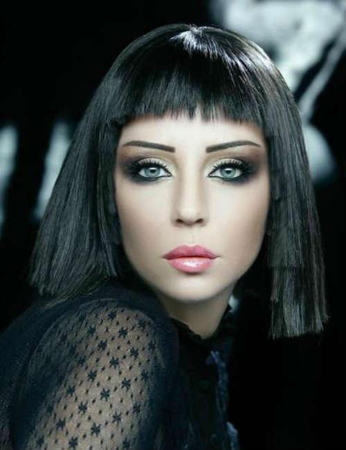 Макияж глаз для брюнеток с голубыми глазами
