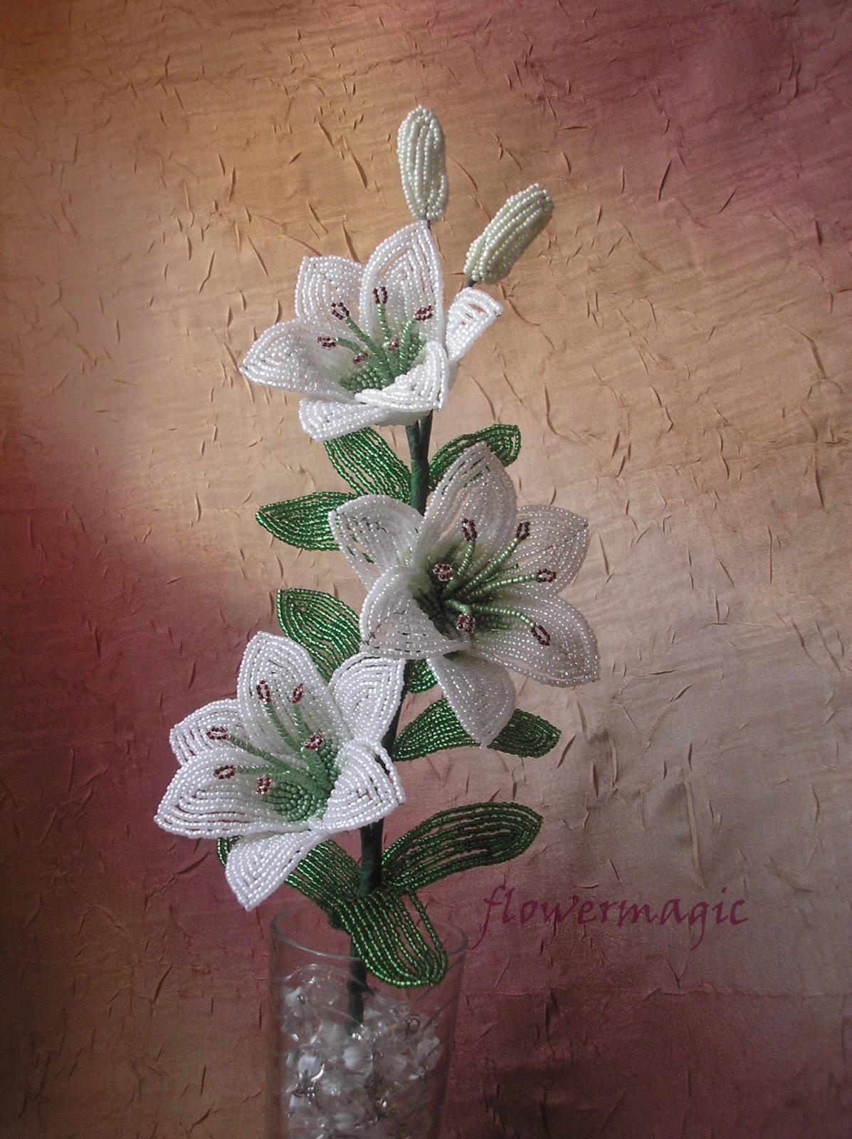 Бисероплетение лилии пошаговым