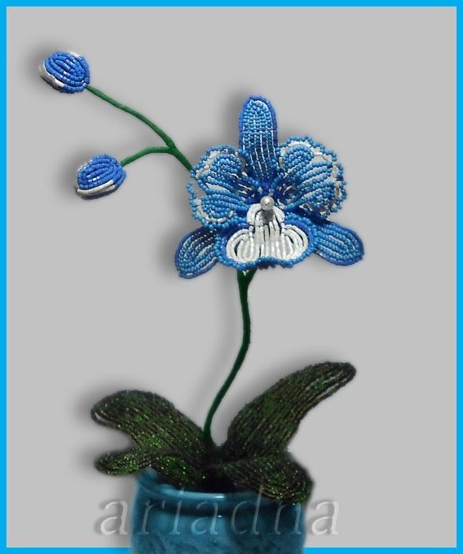 Орхидеи из бисера своими руками