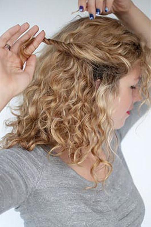 Прическа для вьющихся волос в домашних условиях фото пошагово
