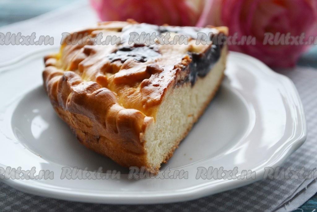 Пирог на кефире в духовкеы с фото простые и вкусные