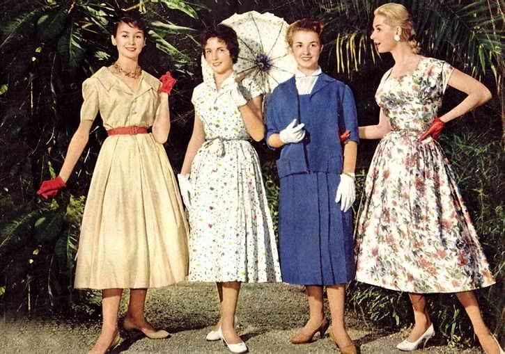 Мода 50-х годов прически