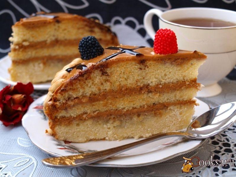 Бисквитные торты с кремом из сгущенки и масла рецепт с пошагово в