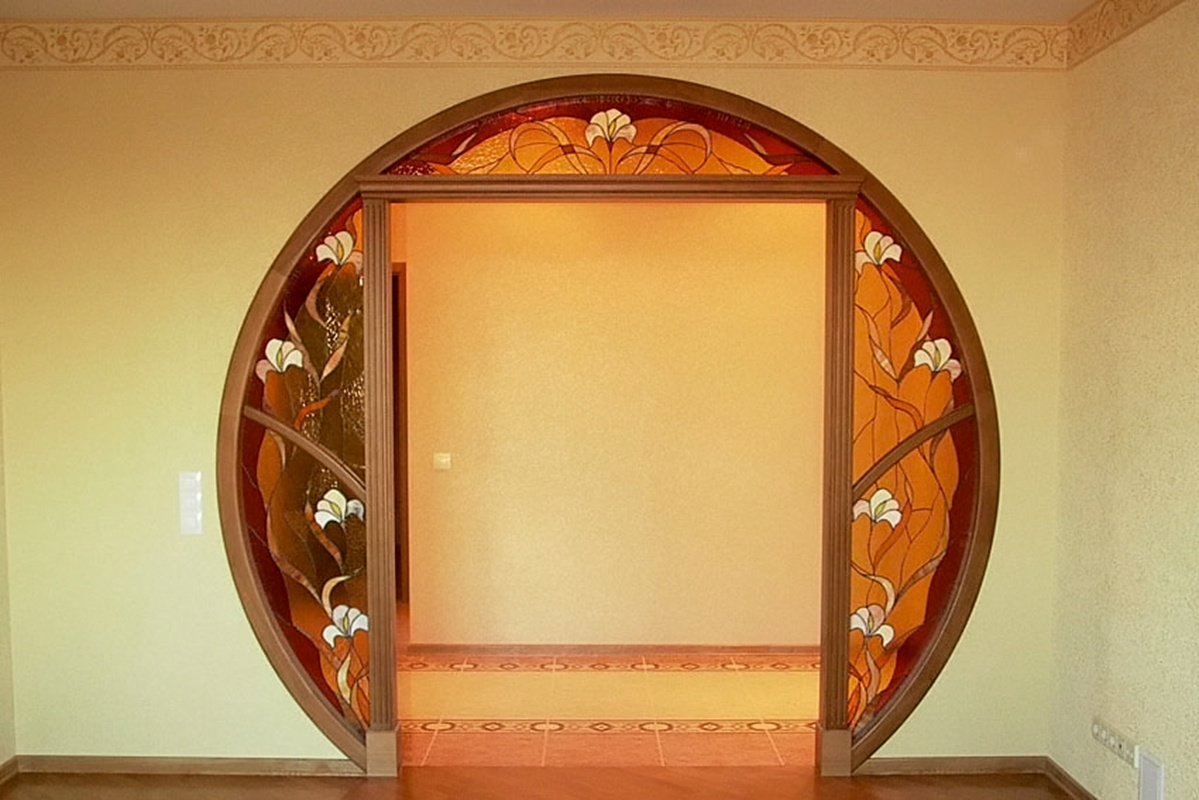 Как сделать дверь в арку
