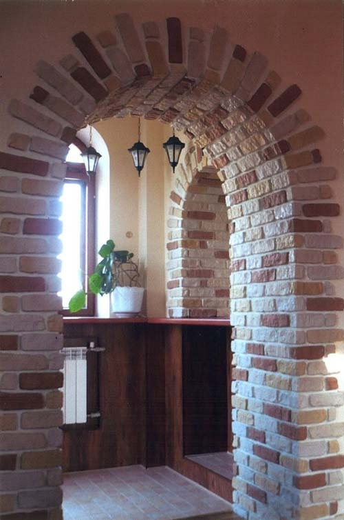 Дизайн арок из кирпича