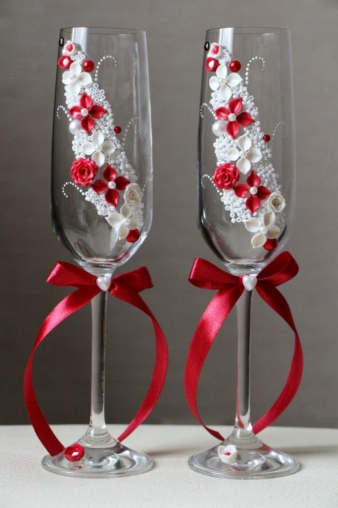 Как самой сделать свадебные бокалы