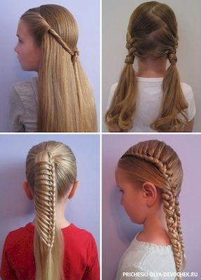 Легкие причёски для девочек в школу