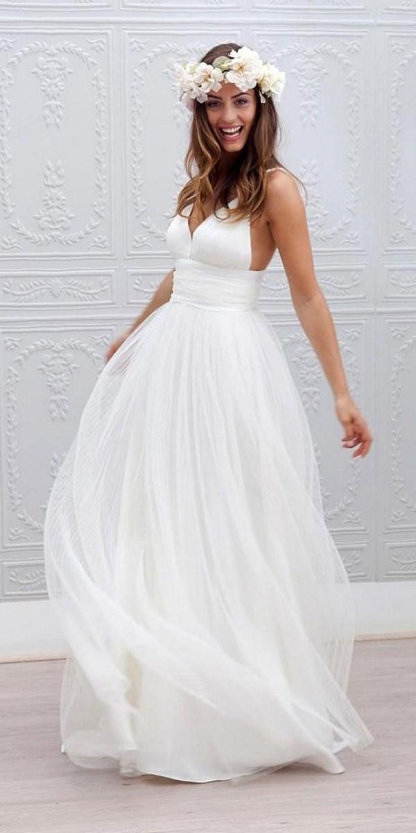 Пляжные свадебные платья 2017-2018
