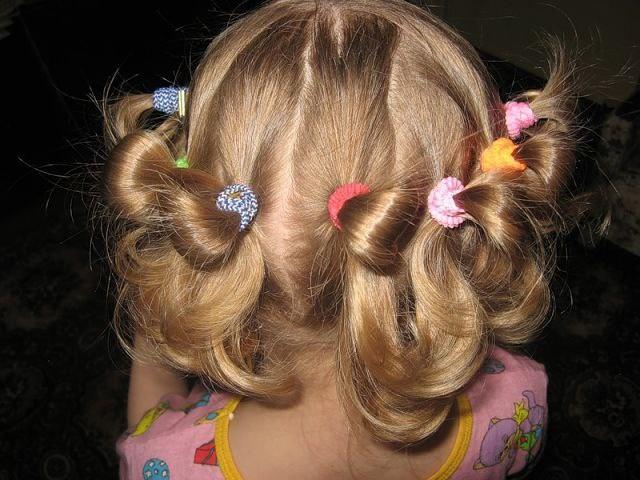 Причёски для детского сада