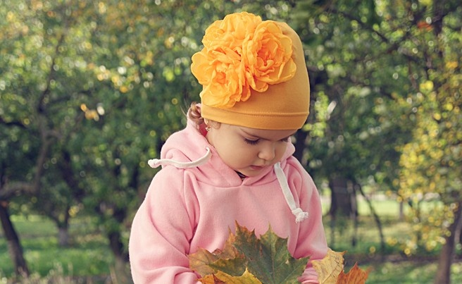 Цветок для шапки своими руками