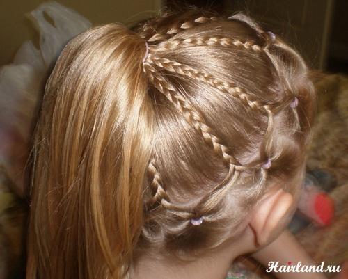 Прически для девочек на волосы в домашних условиях фото пошагово