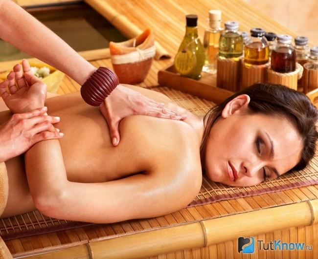 Фото частный массаж