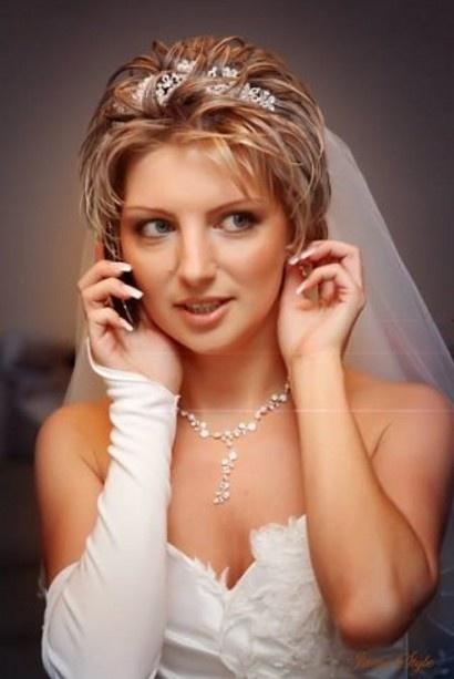 Фото прически свадебные короткие волосы