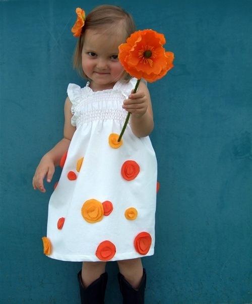 Платье детское своими руками фото