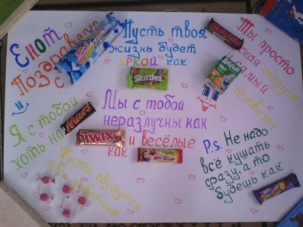 Оригинальный плакат на день рождения сестре