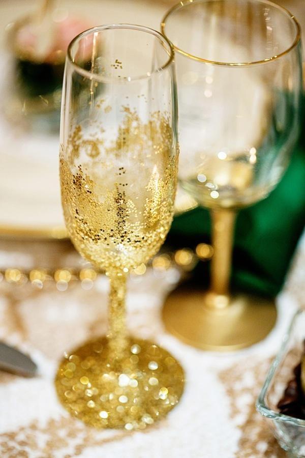 Бокалы на золотую свадьбу