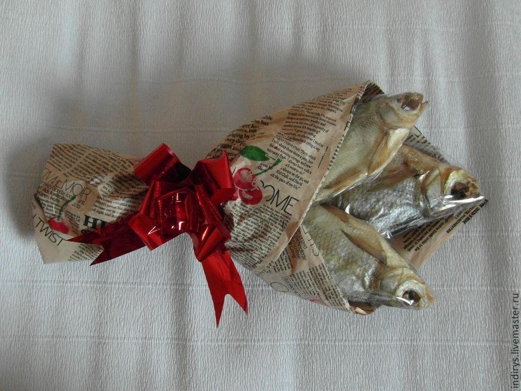 Букет из рыбы своими руками фото