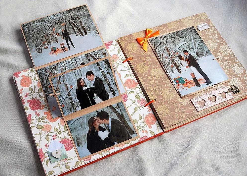 Оформление фотографиями открытки