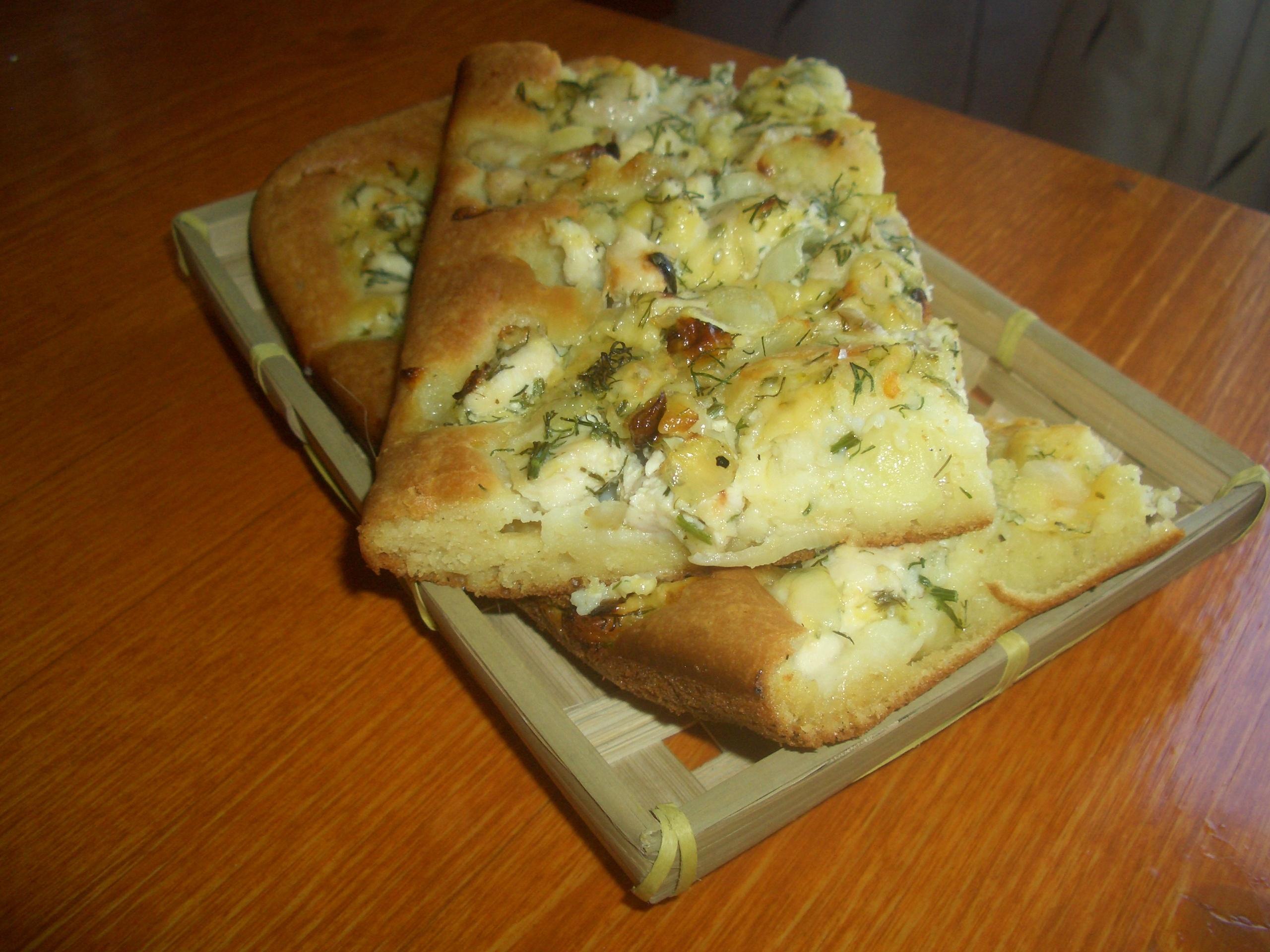 Пирог с куриным филе и сыром рецепт