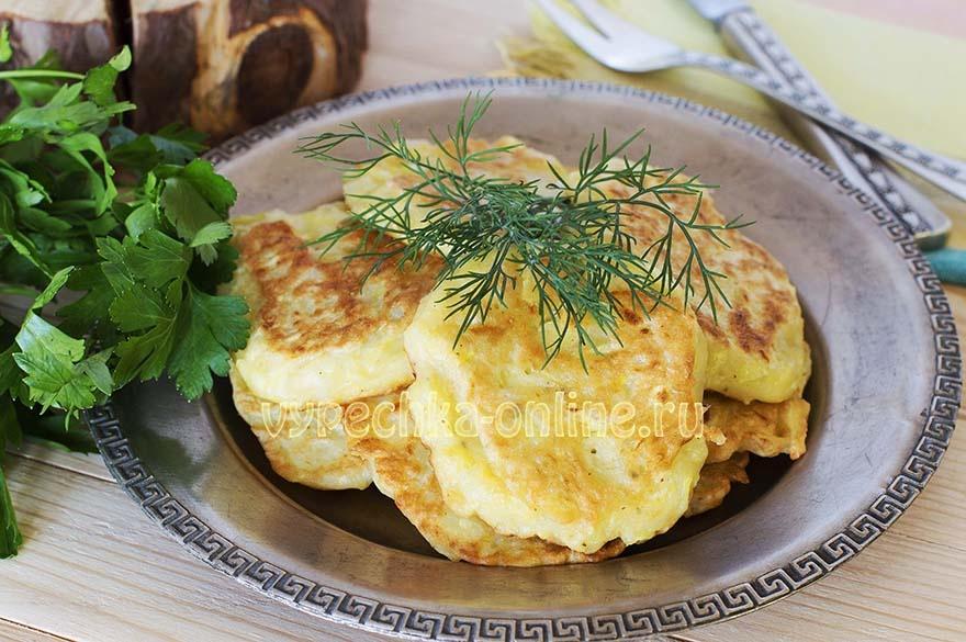 Рецепт оладьев из кабачков сладкие с фото пошагово
