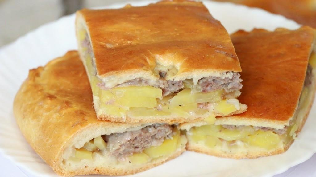 Пирог открытый с мясом в духовке пошаговый рецепт