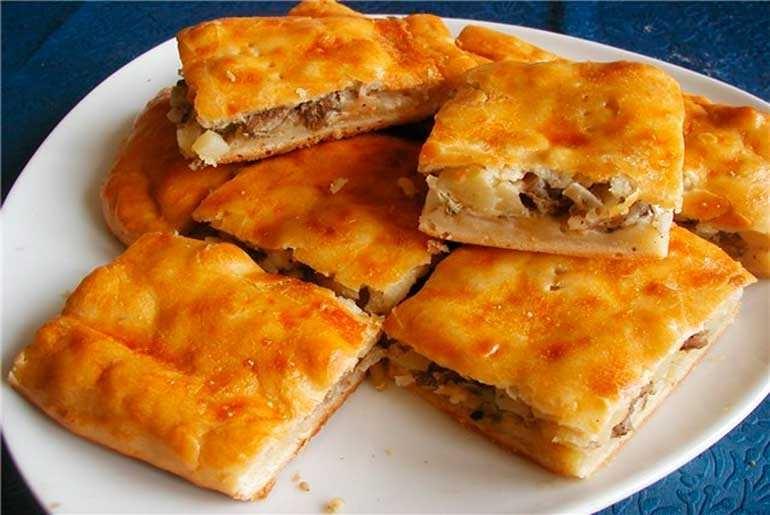 Пирог мясо с картошкой рецепты с