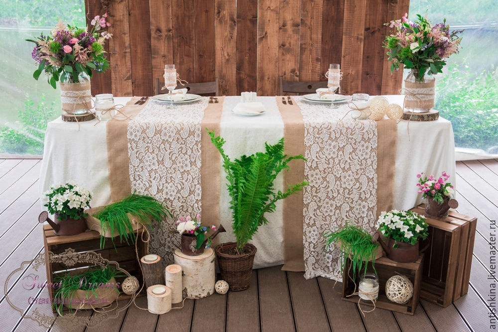 Свадьба в рустик стиле оформление