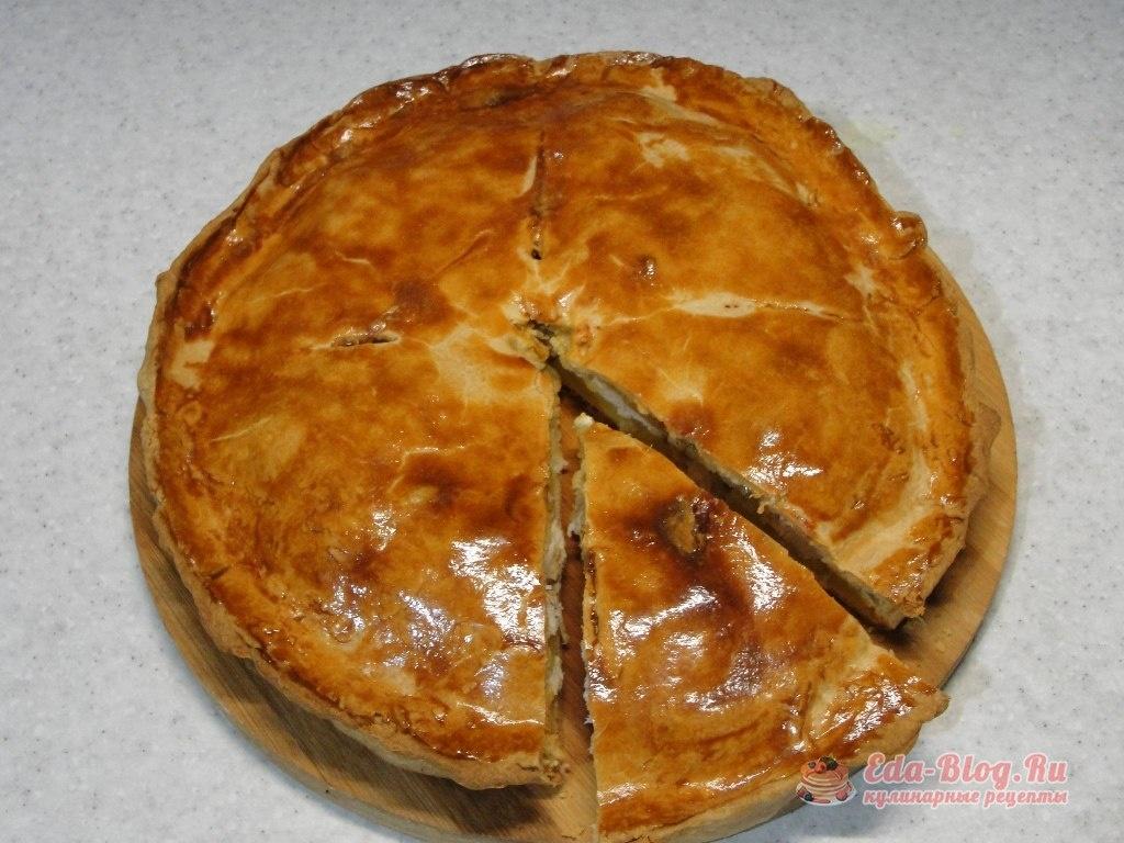 Заливной пирог с курицей и картошкой рецепт пошагово в духовке