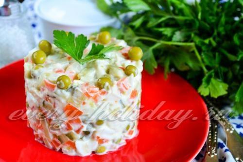 Дешевые салаты на день рождения рецепты с