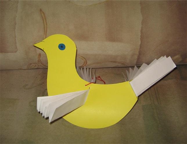 Как сделать поделку птица из бумаги своими руками