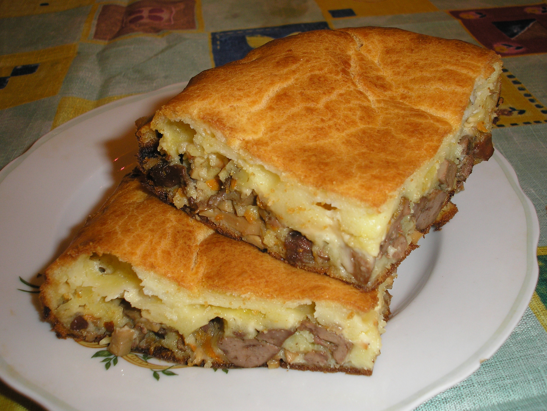 Заливной пирог с мясом на майонезе рецепт