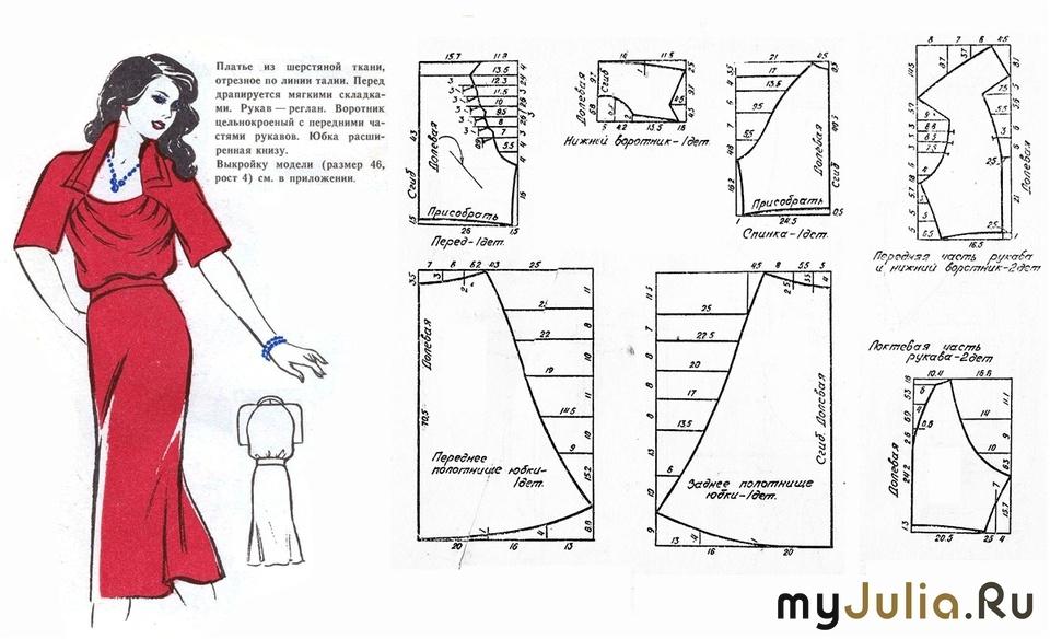 Выкройки для платьев в домашних условиях