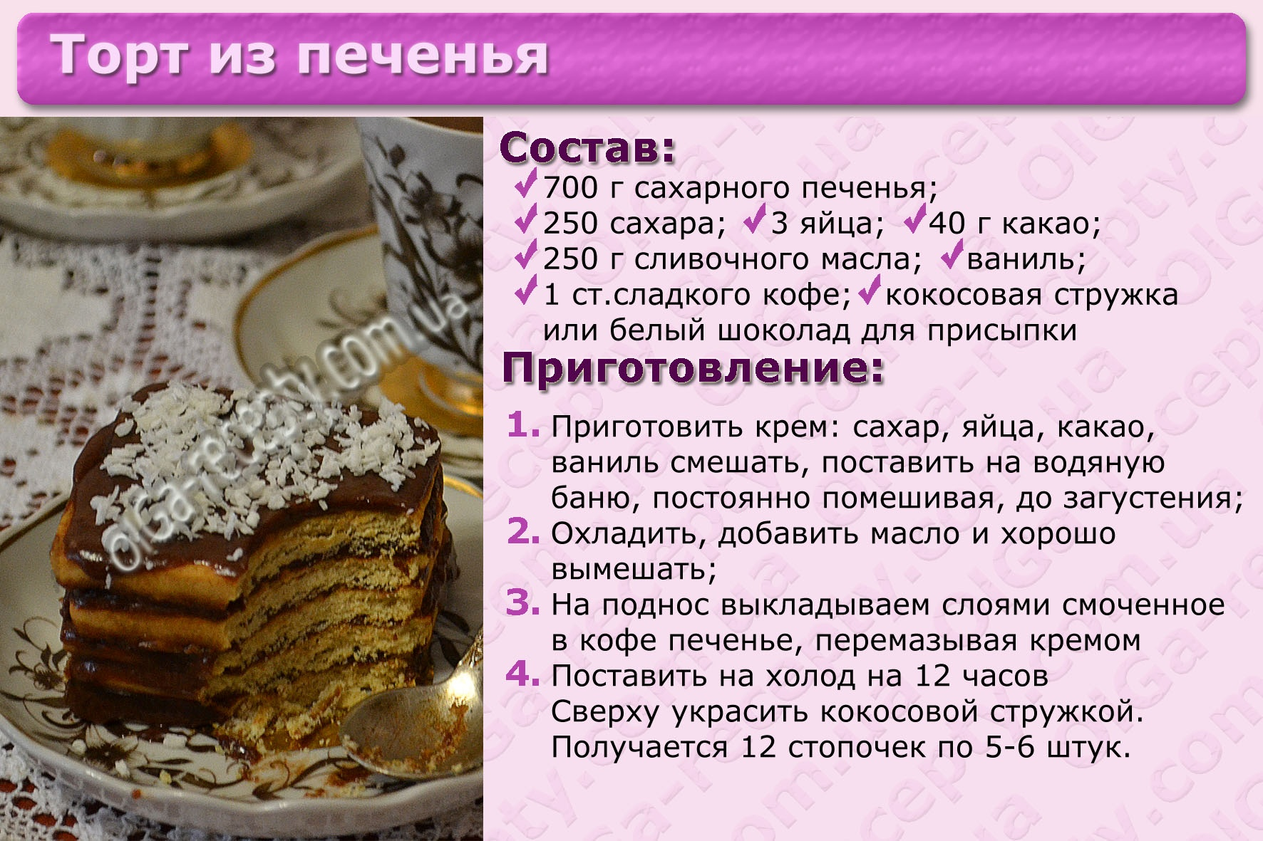 Торты рецепты с пироги