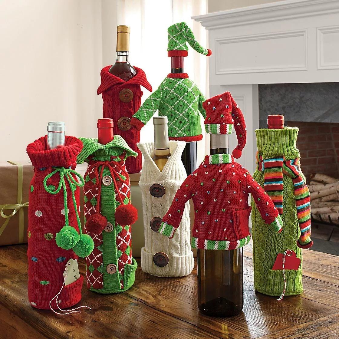 Новогоднее украшение из бутылок своими руками