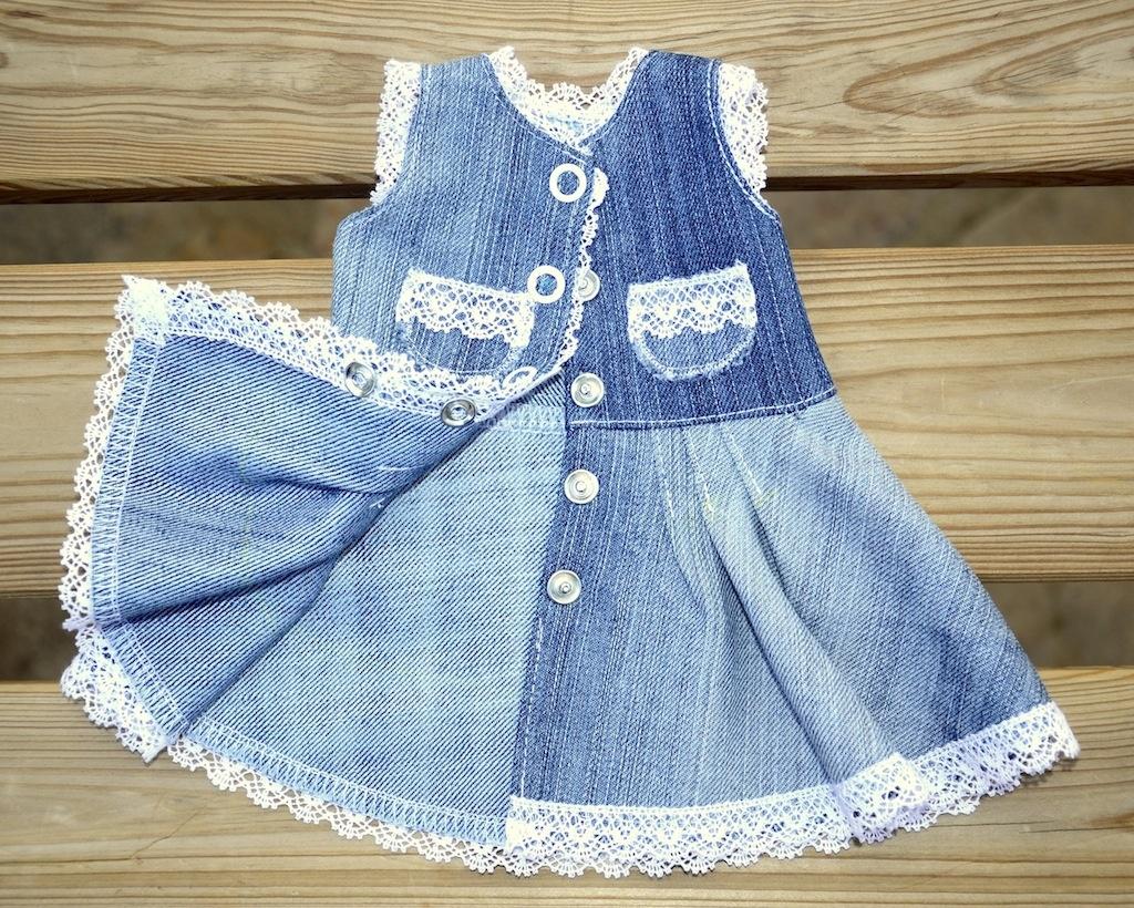 Детское джинсовое платье своими руками
