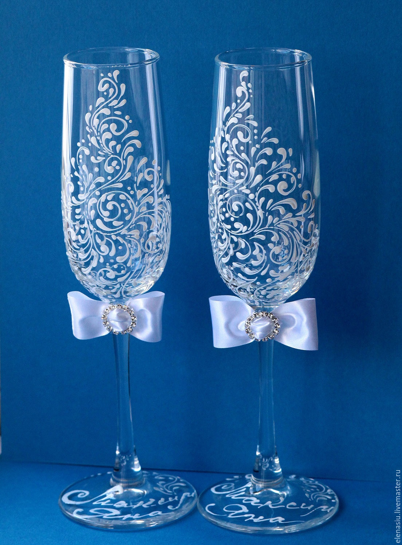 Чем расписать бокалы на свадьбу