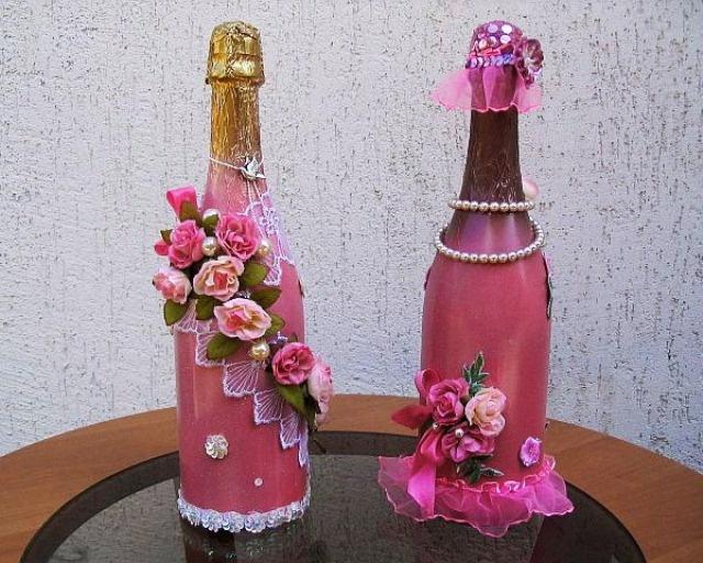 Как украсить бутылку для цветов с