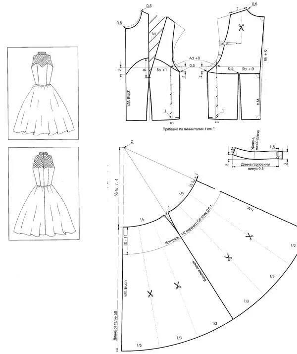 Выкройки свадебные платья своими руками