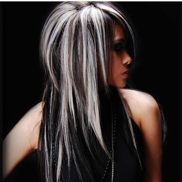 Как сделать мелирование на чёрные волосы
