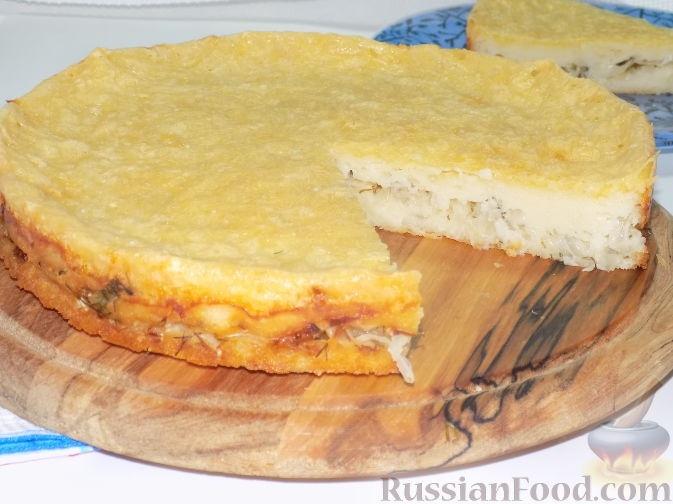 Заливной пирог без яиц на кефире рецепт с